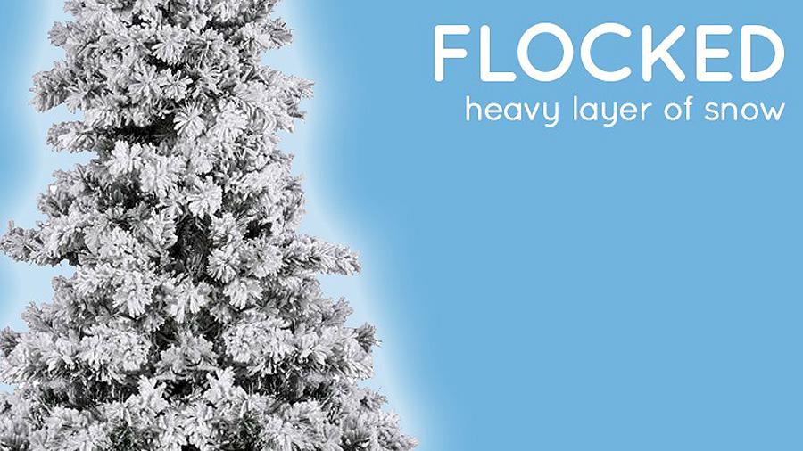 We Offer Flocked Christmas Trees